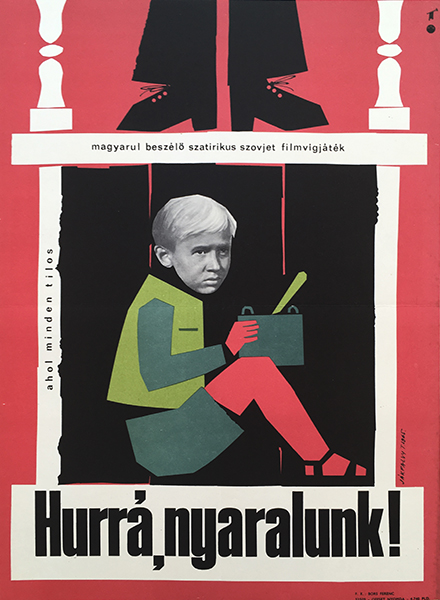 Ja%cc%81kfalvy  tibor   welcome  or no trespassing 1965 original hungarian vintage movie poster
