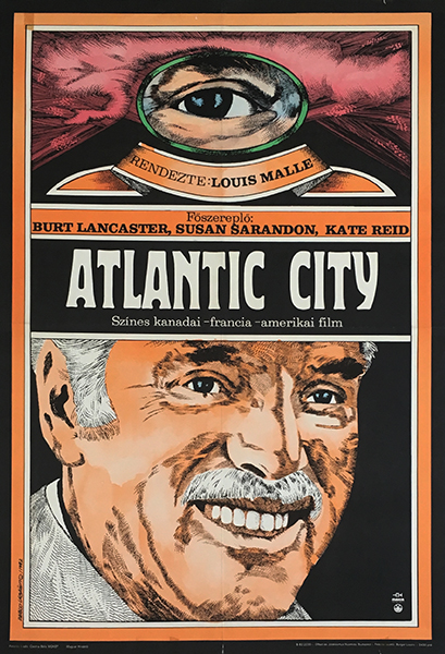 Pablo labanino   atlantic city  usa 1982 original hungarian vintage movie poster
