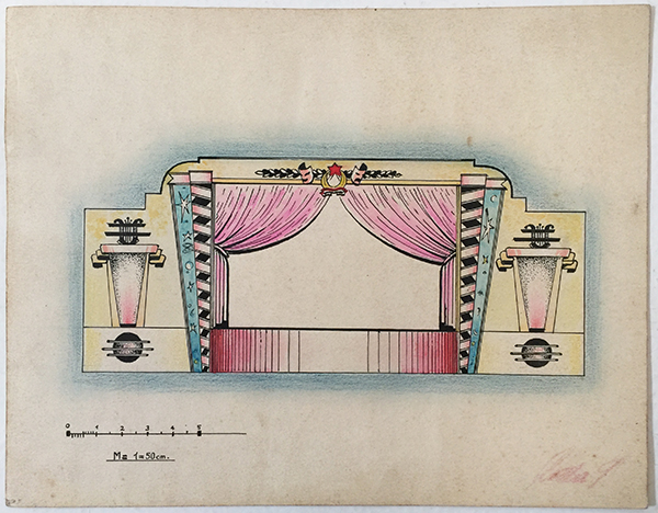 Istvan rottler   stage set design 1950s hungarian communist artwork 1
