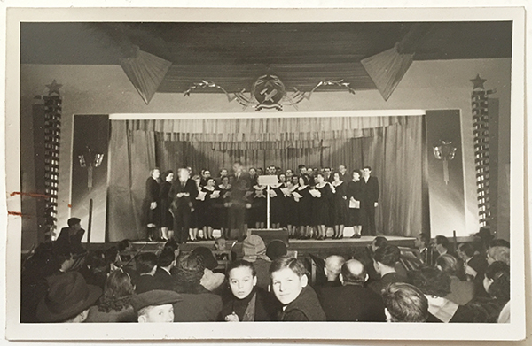 Istvan rottler   stage set design 1950s hungarian communist artwork photo
