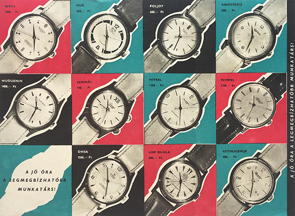 A good wristwatch is the most trustworthy colleague 1960s hungarian brochure 1