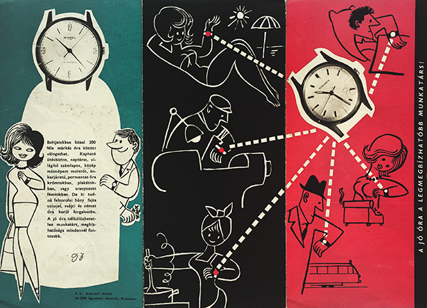A good wristwatch is the most trustworthy colleague 1960s hungarian brochure 3