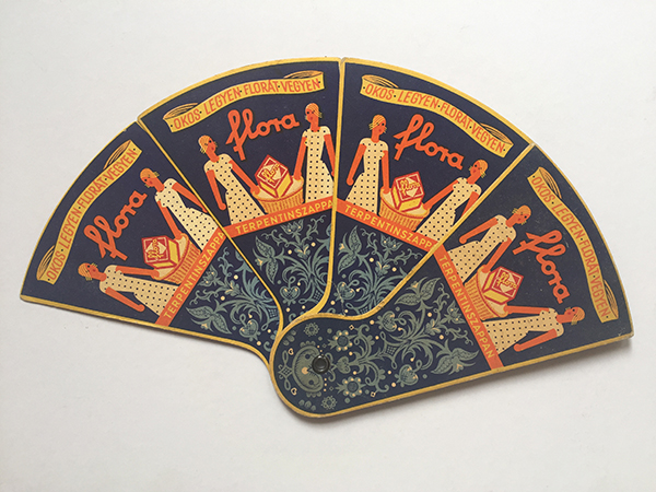 Istvan irsai   flora turpentine soap paper fan 1933 hungarian modernist advertising object 1