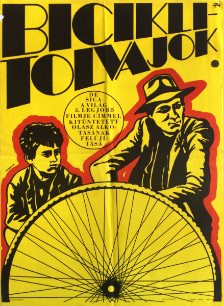 Gyorgy kemeny   bicycle thieves italian film 1968 hungarian movie poster