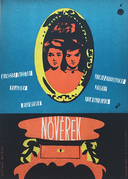 Darvas  a%cc%81rpa%cc%81d   the sisters 1958 original hungarian vintage movie poster