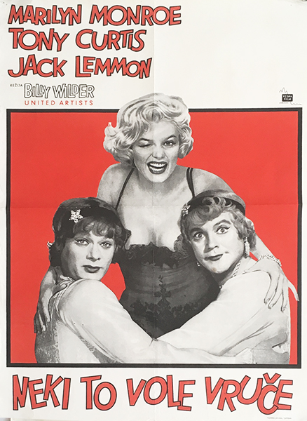 Some like it hot 1960 original yugoslavian vintage movie poster