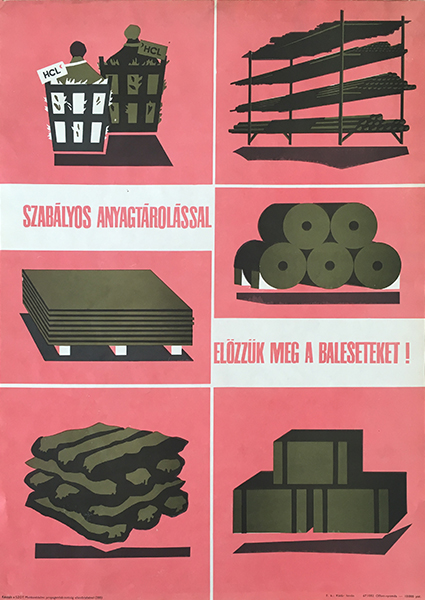 Prevent accidents by proper storing 1967 original vintage hungarian propaganda poster
