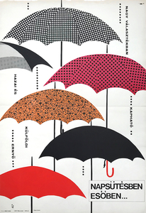 In Sunshine and in rain... A wide range of umbrellas are available