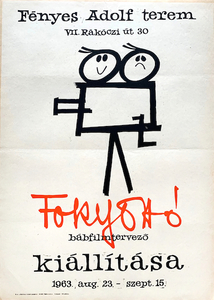 Exhibition of Otto Foky puppet film designer at the Fenyes Adolf terem