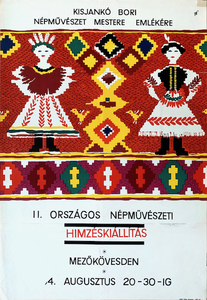 2nd National Folk Art Embroidery Exhibition - In memory of Bori Kisjanko master of folk art