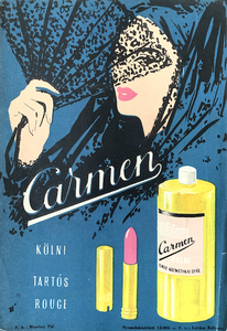 Carmen perfume and long-lasting lipstick