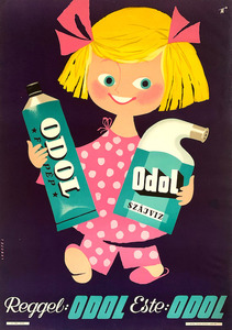 In the morning: Odol, in the evening: Odol - Odol toothpaste and mouthwash